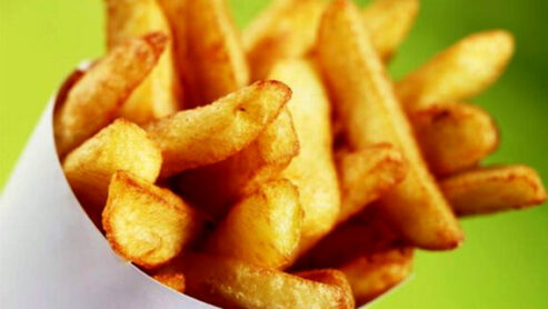 What are healthier fries or onion rings?
