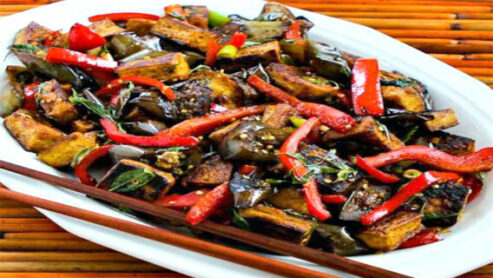 Dairy Free Eggplant Stir Fry: