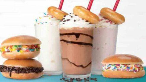 Doughnuts/ice cream cake: