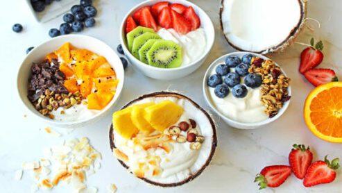 Fruit and yogurt: