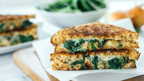 Spinach Grilled Cheese Sandwich: